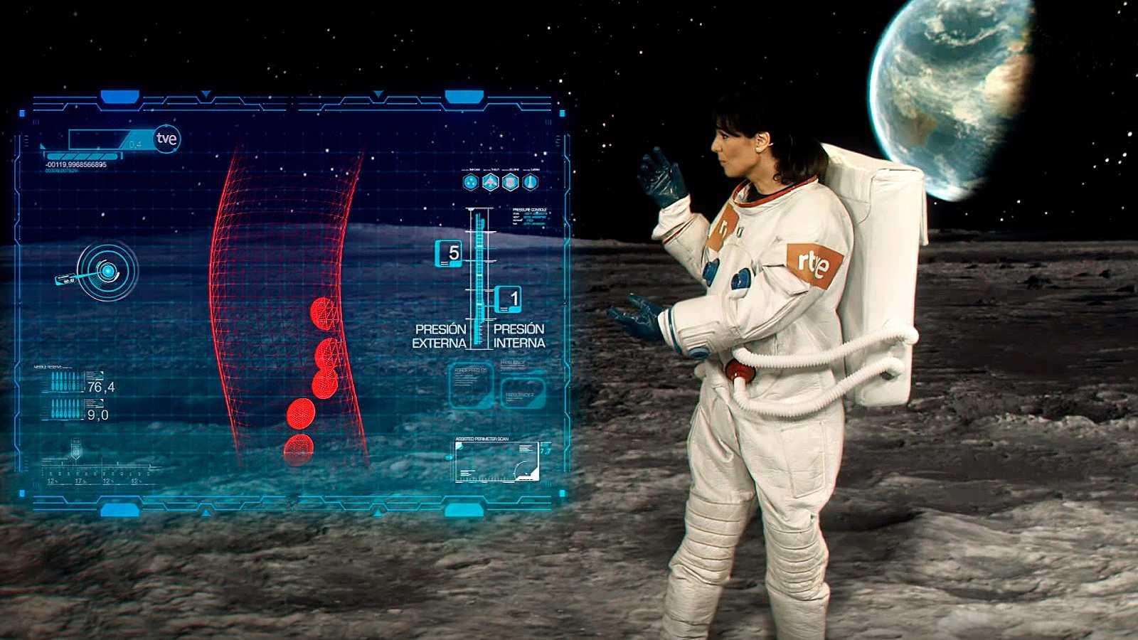 El Tiempo de TVE, en la Luna