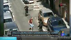 La mañana - Un hombre intenta agredir a una policía en su primer día de servicio