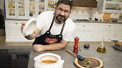 Hacer de comer - Sopa de tomate y callos con garbanzos