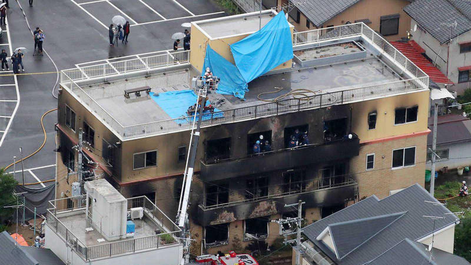 Un fuego provocado en unos estudios de animación de Japón deja 33 muertos