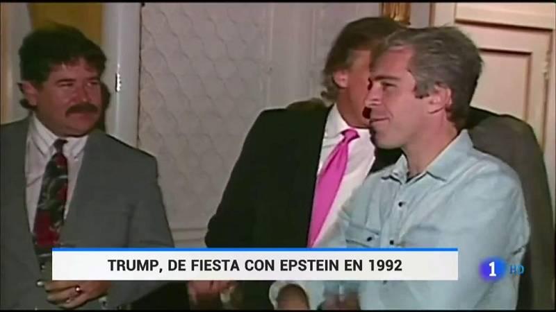 Un vídeo de 1992 muestra a Trump de fiesta con el acusado por tráfico de menores Jeffrey Epstein