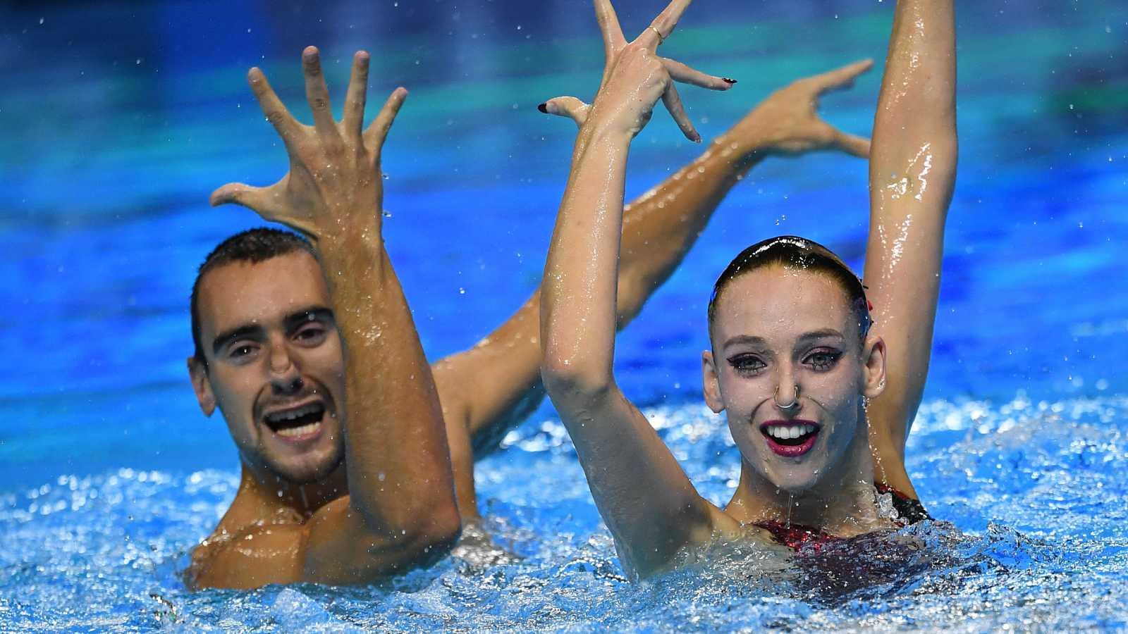El ejercicio de dúo mixto con el que Pau Ribes y Emma García han sido quintos