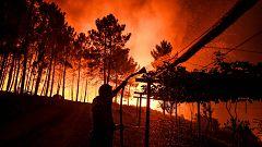 Más de 1.500 efectivos luchan contra las llamas en el centro de Portugal