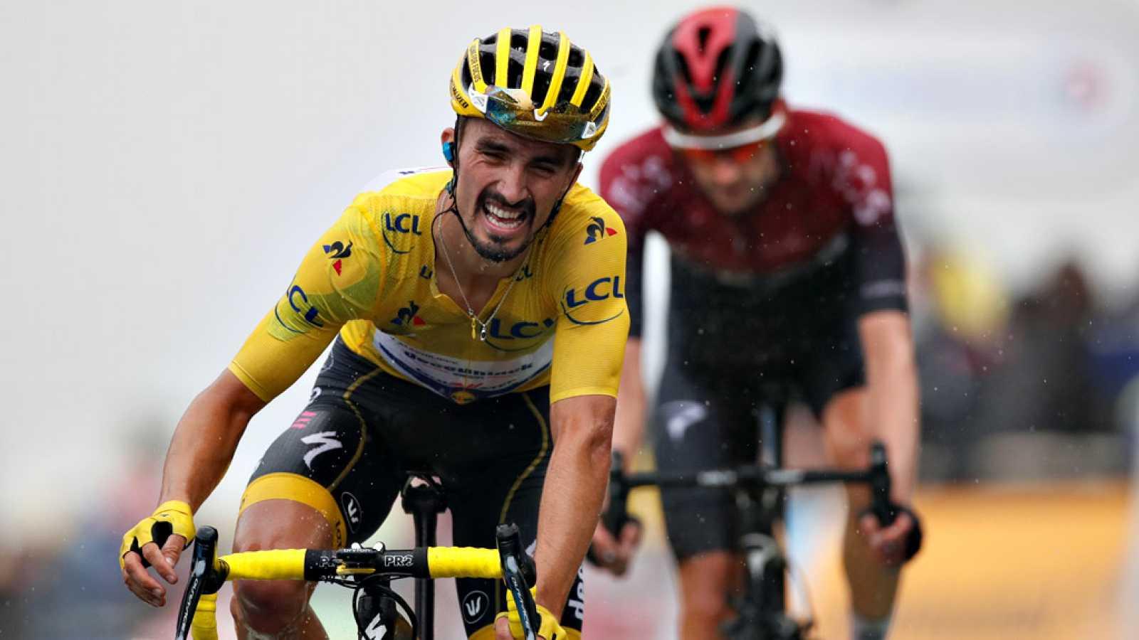 El ciclista británico Simon Yates, del Mitchelton-Scott, ha ganado  este domingo la decimoquinta etapa del Tour de Francia, disputada  sobre 185 kilómetros entre Limoux y el inédito puerto montañoso de  Prat d'Albis, mientras que el francés Julian Al