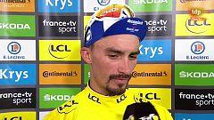 "Tour 2019: Alaphilippe: ""Estoy feliz, el objetivo era mantener el amarillo"""