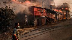 Sigue la lucha contra los incendios que asolan el centro de Portugal