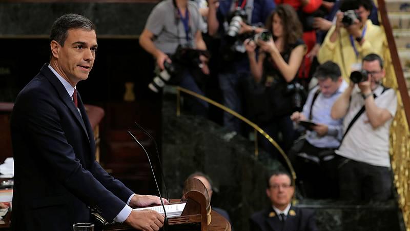 """Sánchez pide a los partidos """"conservadores"""" en su discurso de investidura que se alejen de la """"ultraderecha"""""""