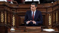 """Debate de investidura: Sánchez insta a Podemos a culminar un acuerdo """"de izquierdas"""" y la abstención de PP y Cs"""