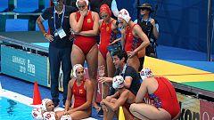 Alegría en la selección española de waterpolo tras meterse en semifinales