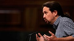 """Pablo Iglesias: """"Si el PSOE está negociando un acuerdo de gobierno con nosotros es porque no le queda más remedio"""""""