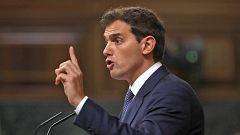 """Rivera asegura que Cs votará 'no' """"con las dos manos"""" al """"plan Sánchez"""" y """"a su banda"""""""