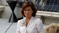 """Carmen Calvo asegura que el PSOE sigue """"dispuesto a hablar"""" con Unidas Podemos"""