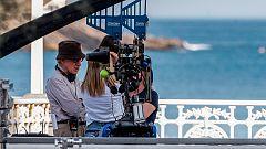 Woody Allen rueda en la playa de La Concha