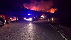 Un incendio en la sierra norte de la Comunidad de Madrid obliga a cortar dos carreteras