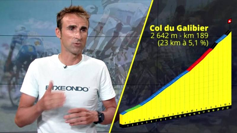El exciclista examina los seis puertos de más de 2.000 metros que atravesará la ronda gala en los próximos tres días.