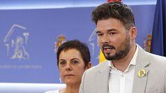"""ERC insta al PSOE a levantar """"el veto a Iglesias"""" y a Podemos a aceptar los ministerios ofrecidos"""