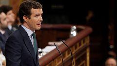 """Casado, a Sánchez: """"Su investidura es la historia de un gran fracaso"""""""