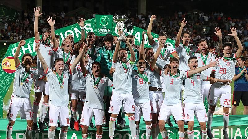 España, campeona de Europa sub'19 tras vencer en la final a Portugal