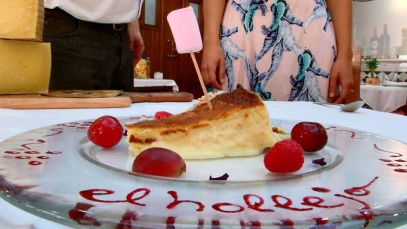 Una señora tarta de queso manchego