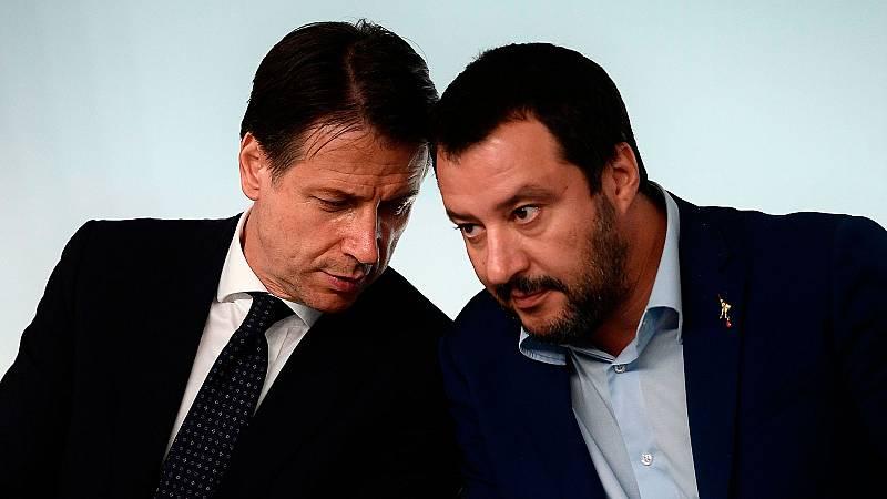 Salvini anuncia una moción de censura contra el primer ministro Giuseppe Conte