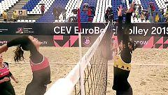 Voley Playa - Campeonato de Europa 1ª Semifinal Femenina: España - Letonia