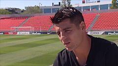 "Morata da la ""bienvenida"" a Rodrigo"