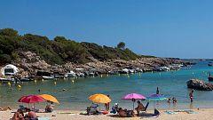 Temperaturas  significativamente altas en los valles del Tajo, Guadiana, Baleares, entorno del Ebro e interior sureste peninsular