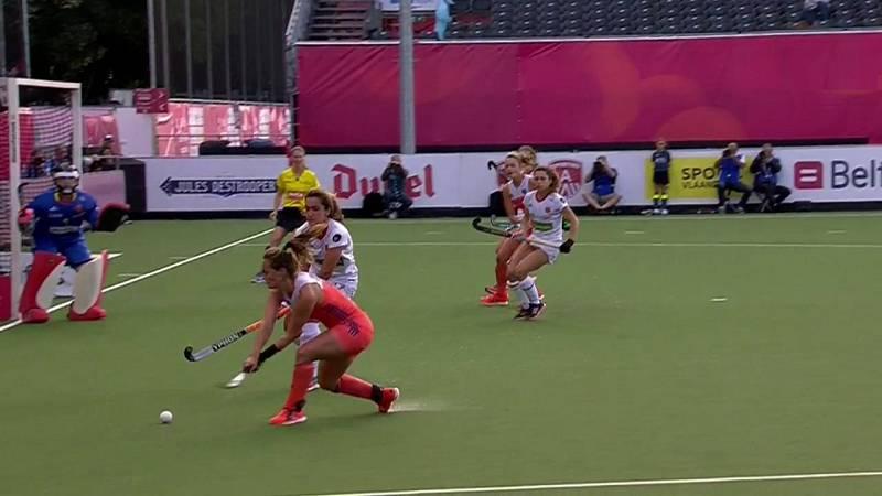 Hockey hierba - Campeonato de Europa Femenino: España - Holanda. Desde Amberes (Bélgica) - ver ahora