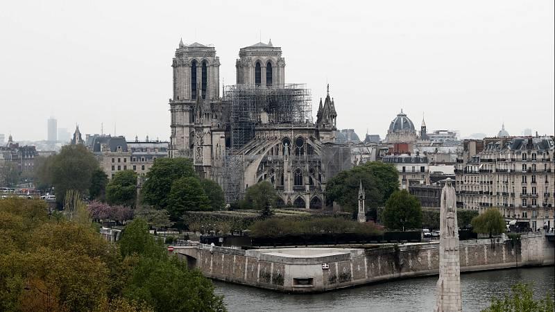 Comienzan los trabajos para consolidar la estructura de Notre Dame y evitar que se derrumbe