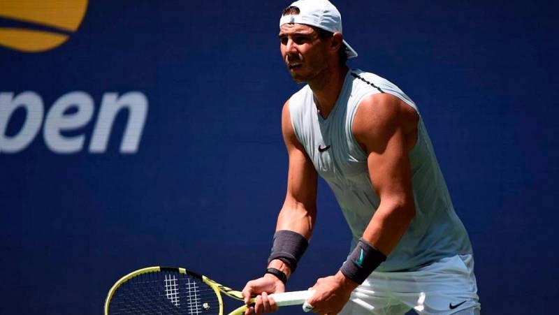 Rodeado de otras grandes figuras del tenis mundial, Rafa Nadal ha comenzado sus entrenamientos del cara al último Grand Slam de la temporada, el US Open.