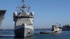 Un buque de la Armada parte hacia Lampedusa para trasladar a los migrantes del Open Arms hasta Mallorca
