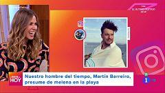 A partir de hoy - Martín Barreiro presume de melena en la playa