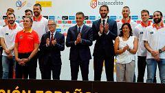 Pedro Sánchez despide a la selección española de baloncesto antes del Mundobasket
