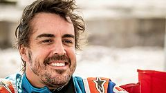 Fernando Alonso ha salido muy satisfecho de su pilotaje por el desierto