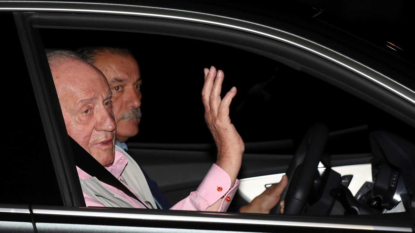 El rey Juan Carlos llega al Hospital Quirón para ser operado del corazón