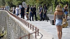 Identificaciones y restricciones de paso en Biarritz, así es la seguridad extrema por el G7