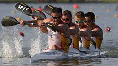 La embarcación K4 500 logra la plata en el Mundial de piragüismo