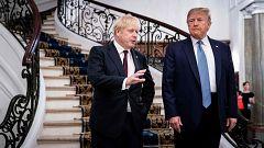 El G7 propicia el primer encuentro de Trump con Johnson como primer ministro británico