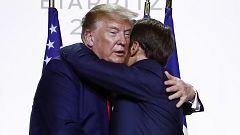Macron y Trump alivian tensiones en un G7 con la atención en China, Irán, el Brexit y el Amazonas