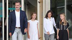 """El rey Felipe VI dice que """"da gusto"""" ver a don Juan Carlos """"tan animado"""""""