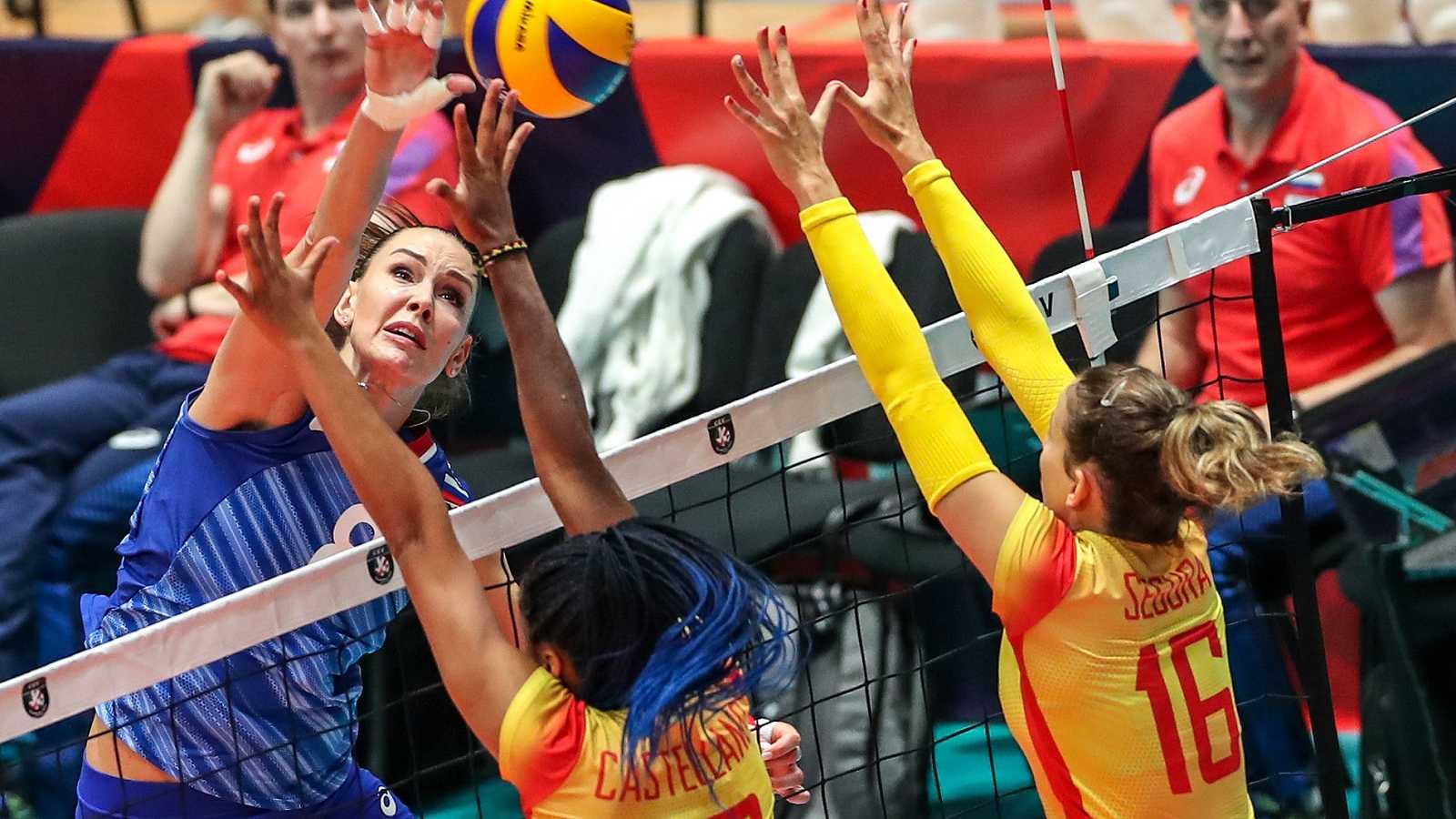 España pierde con Rusia pero pasa a octavos de final del Europeo de voleibol