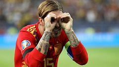 """Ramos explica su amarilla: """"Era una dedicatoria para mi sobrino, el árbitro se equivocó"""""""