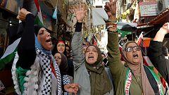 Las mujeres palestinas se manifiestan por primera vez contra la violencia machista