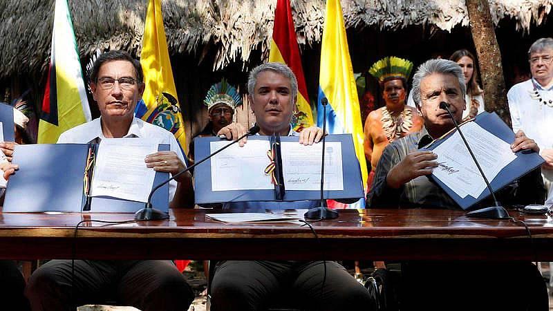 """Siete países de América del Sur firman el """"Pacto de Leticia"""" para preservar los recursos de la Amazonía"""