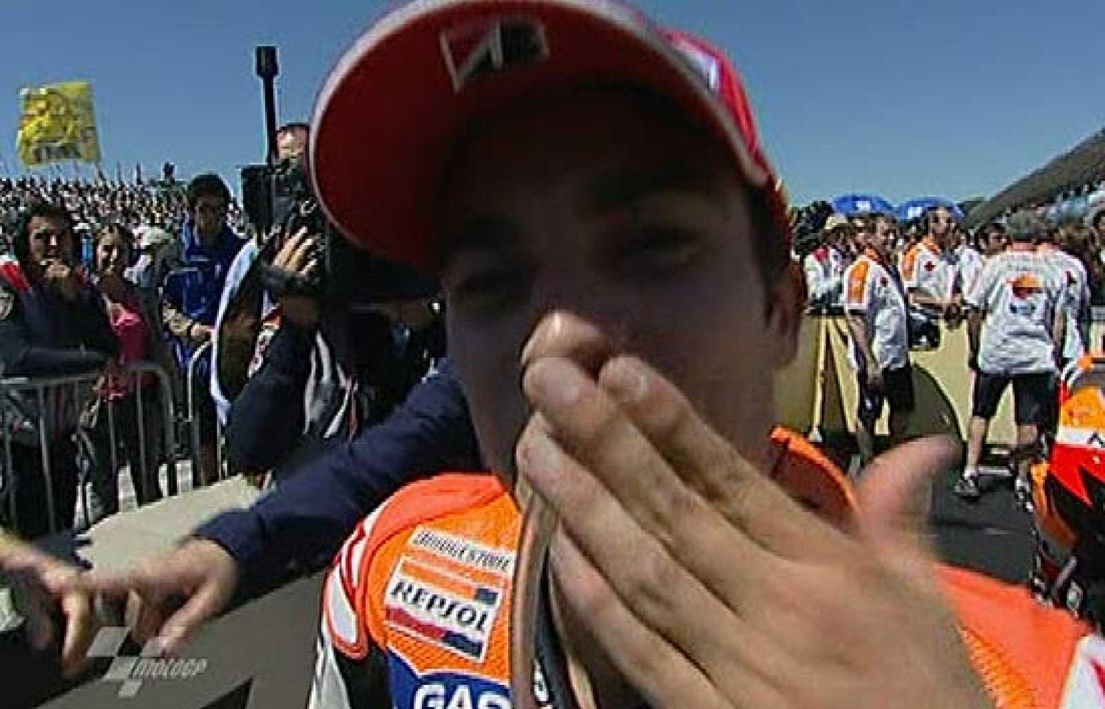 Dani Pedrosa es el primer español que gana en Laguna Seca.