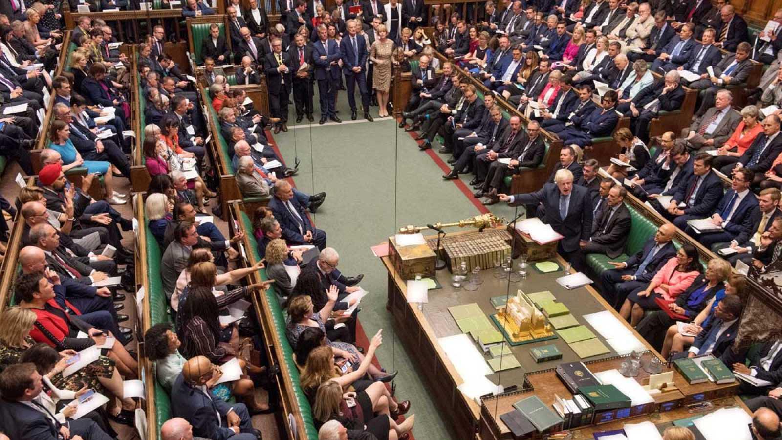 Última sesión del parlamento británico