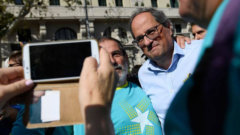 """Los líderes independentistas acuden a la manifestación con motivo de la Diada para defender el """"Objetivo independencia"""""""