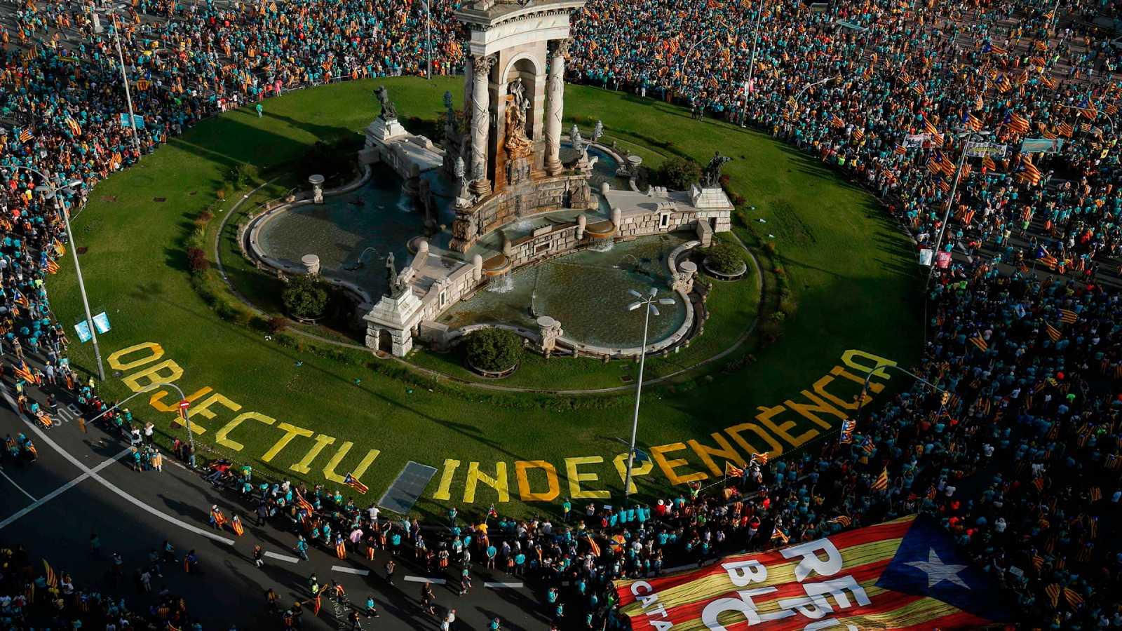 Diada: El soberanismo llama a la unidad en la manifestación menos numerosa desde 2012