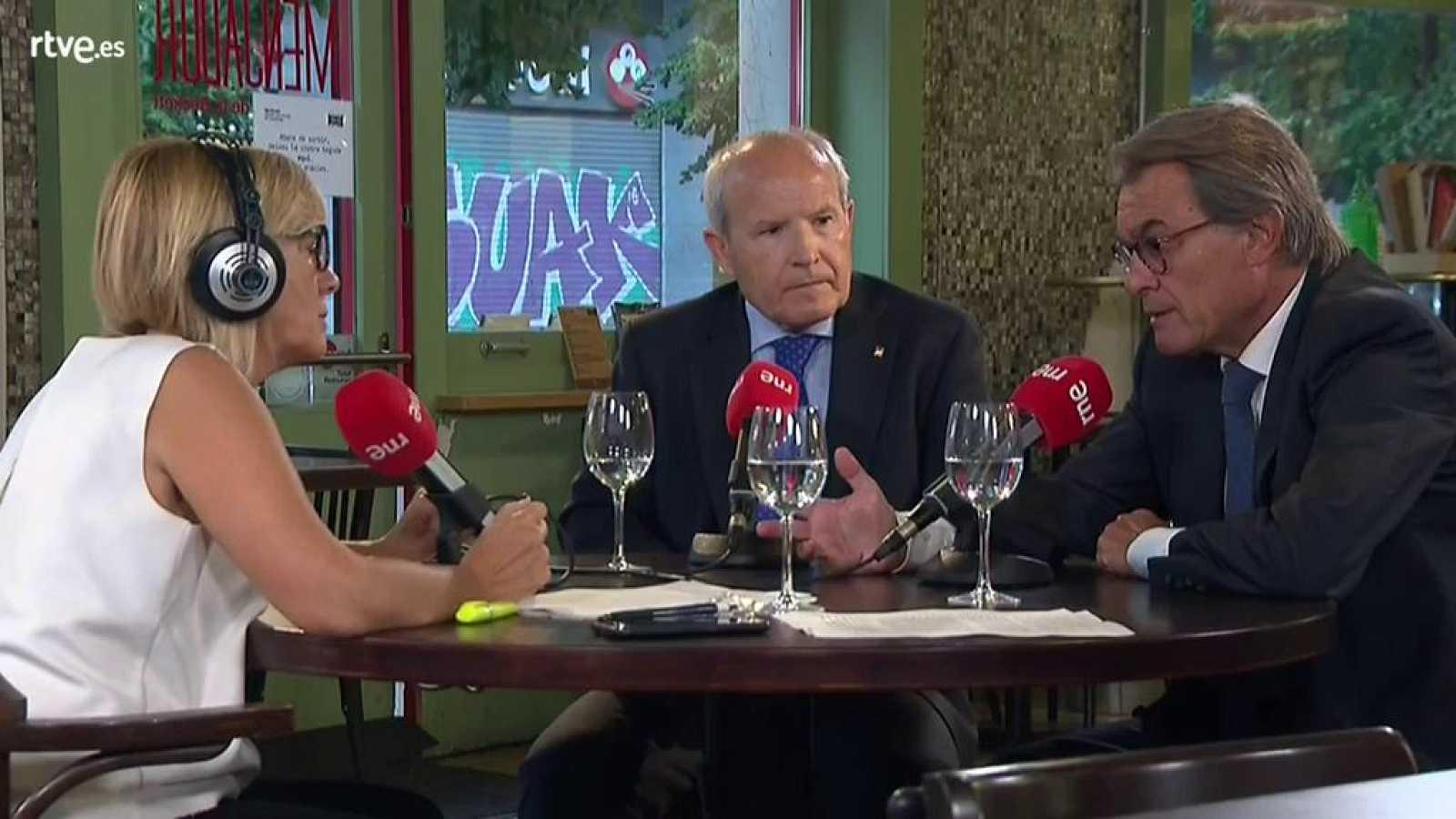 Un cafè d'idees amb Gemma Nierga - Artur Mas i José Montilla han coincidit a lamentar la manca d'acord per a formar govern a Espanya