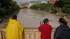 Gota fría en Orihuela: el río Segura se desborda